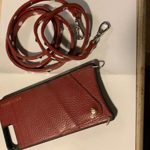Bandolier Iphone 8+ red case w/long strap